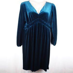 Lane Bryant Dress Crushed Velvet Long Sleeve Party
